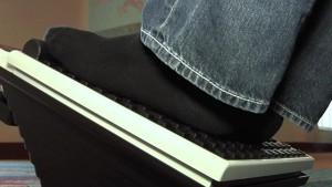 MediMassager with black socks
