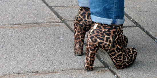 High Heeled Leopard Print Boots